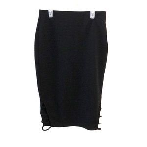 Bisou Bisou Relisted Pencil Skirt pull on black S